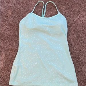 Mint green/blue lulu lemon y tank